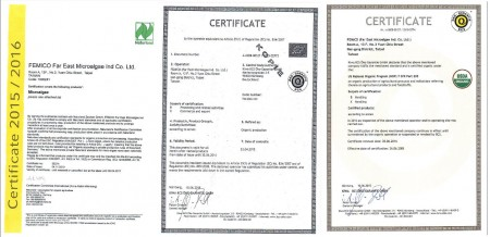 Organic Chlorella Certification (USDA / NOP, Germany Naturland)
