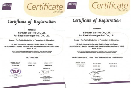 ISO Certification to ISO 22000 including HACCP